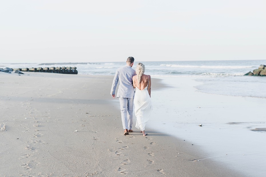 wedding beach walk