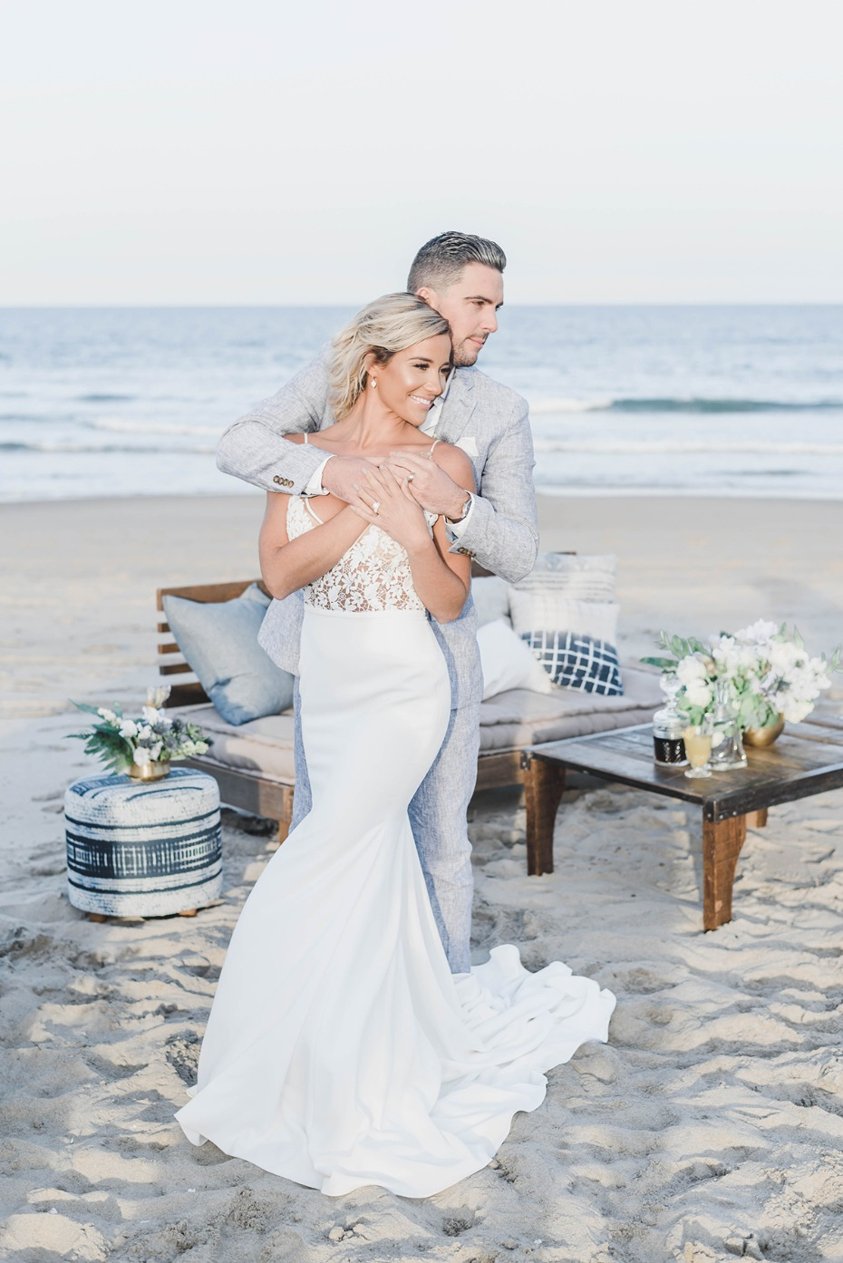 beach wedding portraits