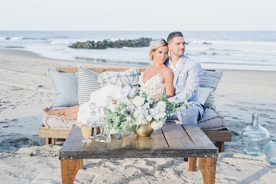 beach chic wedding lounge