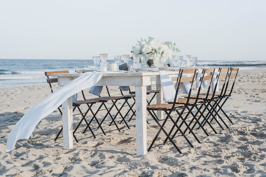 beach wedding reception idea