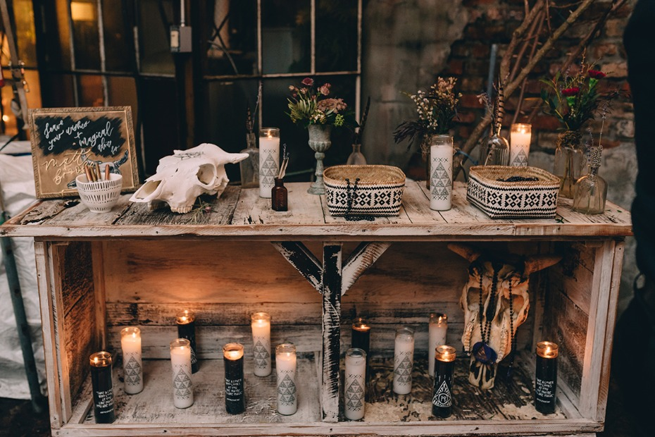 magical wedding welcome table