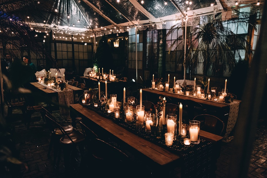 mystical and magical themed wedding reception