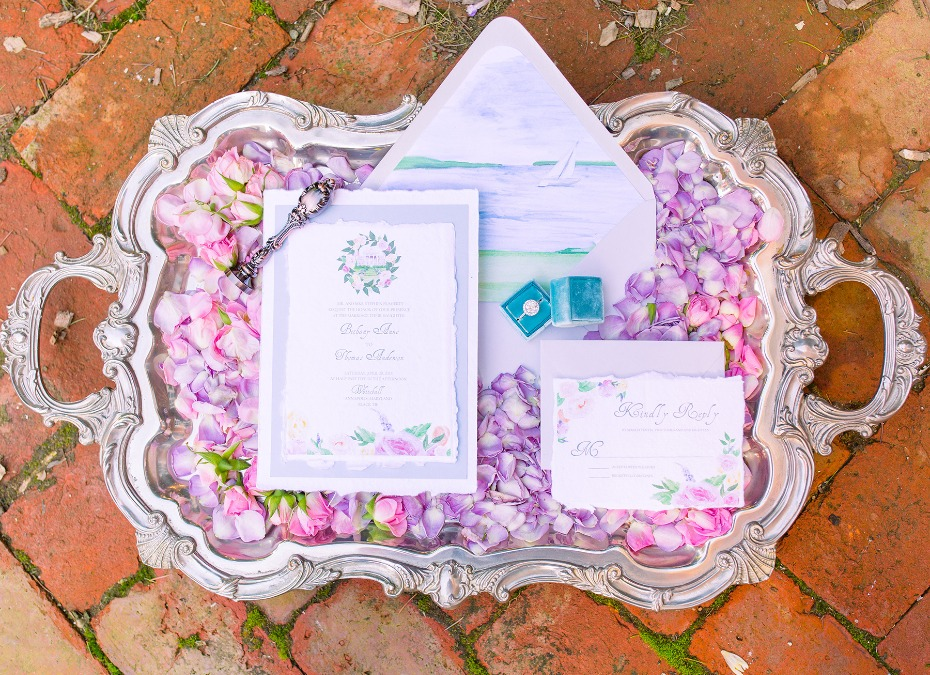 floral themed wedding invitations