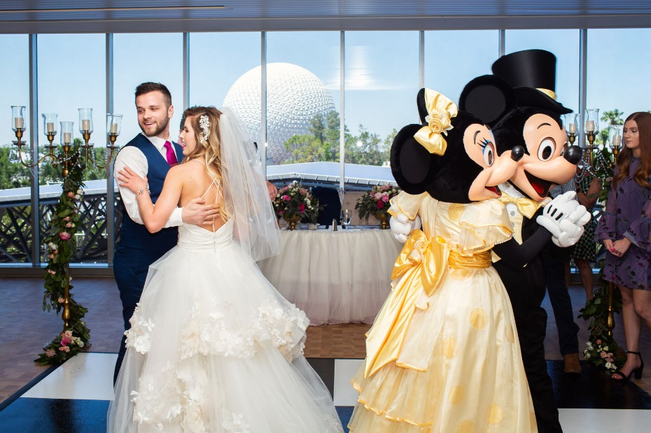 First dance with Mickey and Minnie