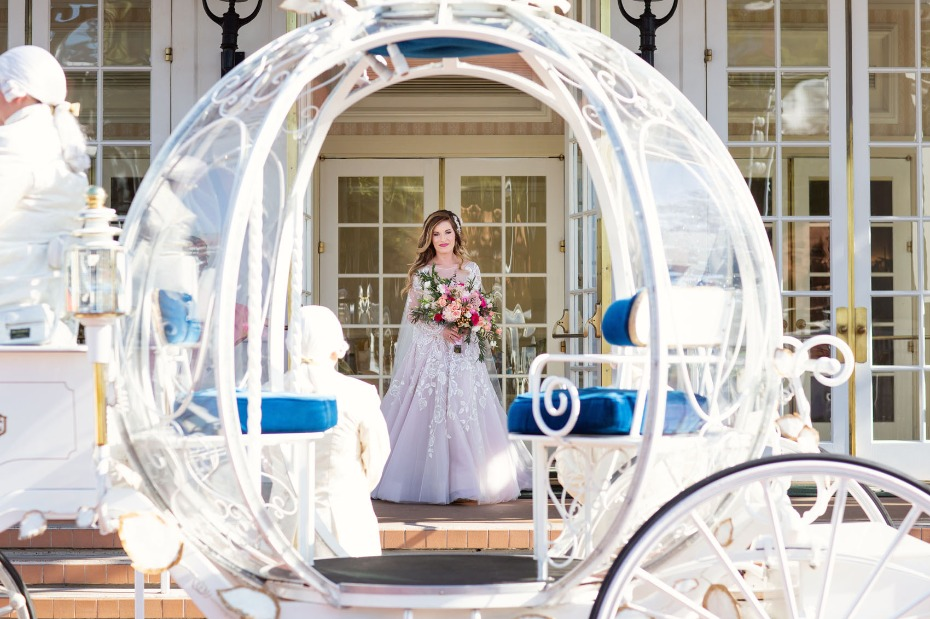 Ride in Cinderella's coach for your wedding