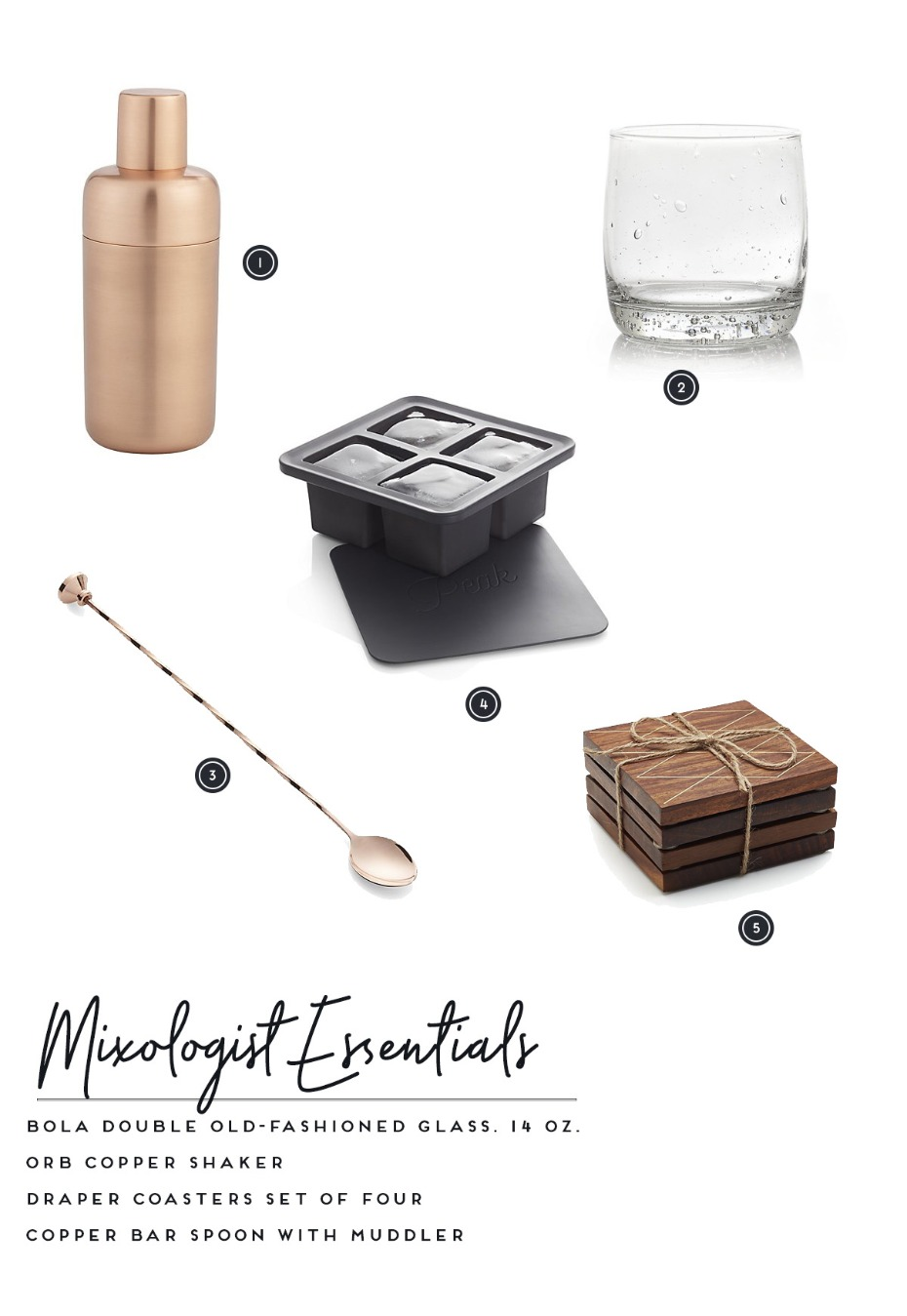 Mixologist wedding registry essentials