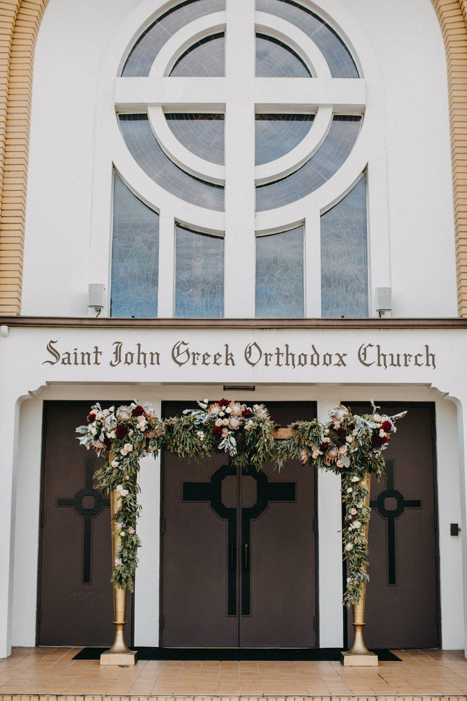 church wedding entryway idea