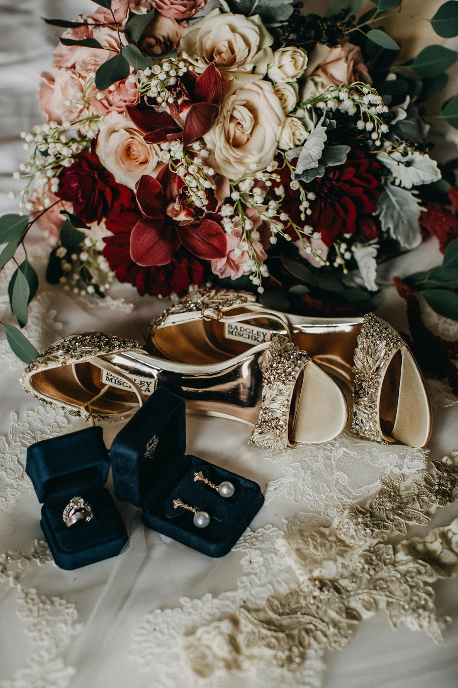 glam Badgley Mischka wedding shoes
