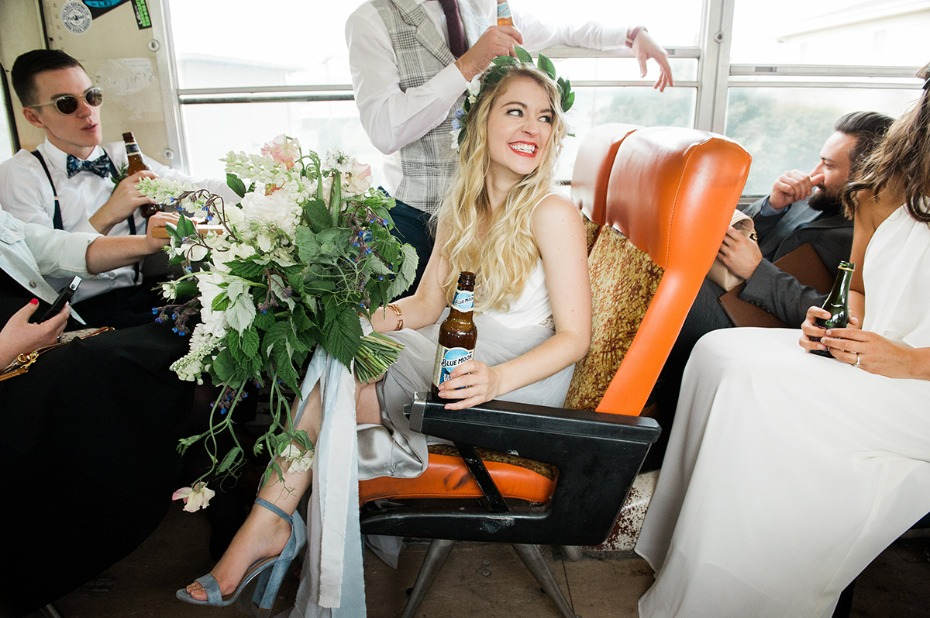 riding to the wedding in style