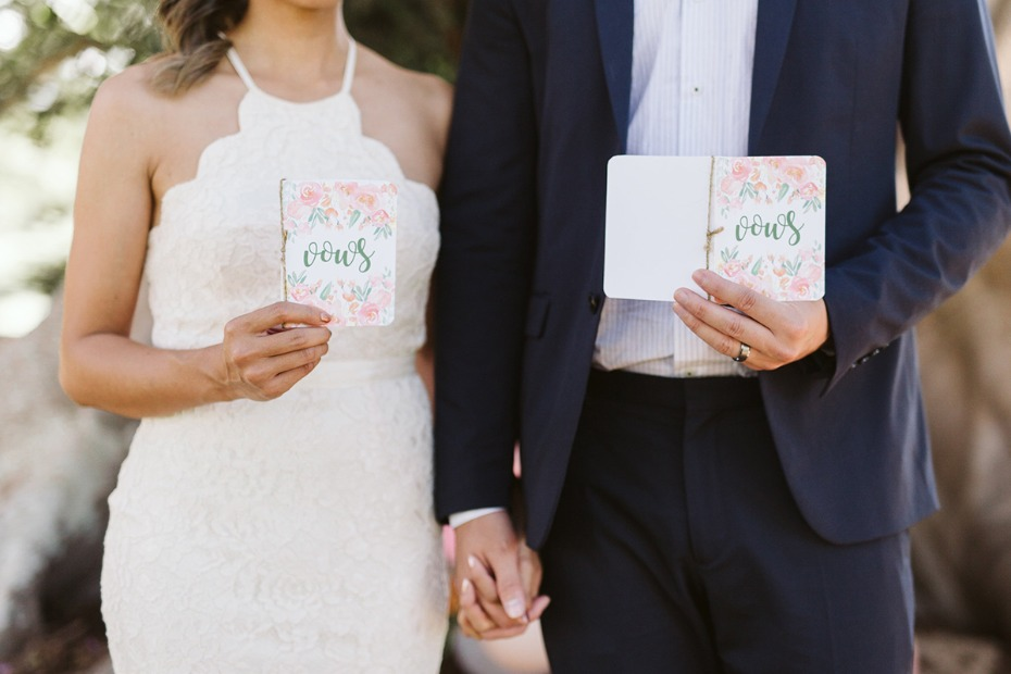 floral wedding vow books