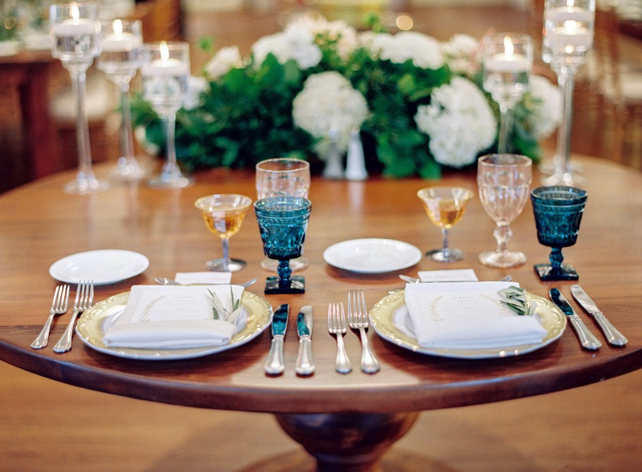 Simple sweetheart table design