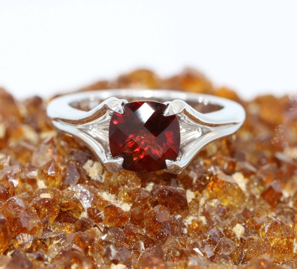 January birthstone - Garnet ring.