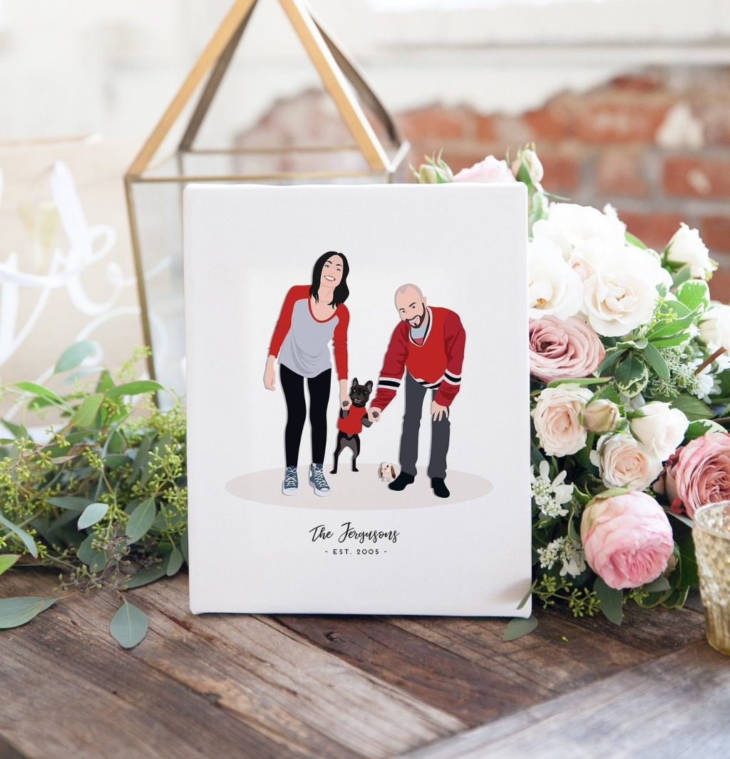 Are you looking for a wonderful gift that's a little unique for the bride and groom? Miss Design Berry can illustrate the perfect couple