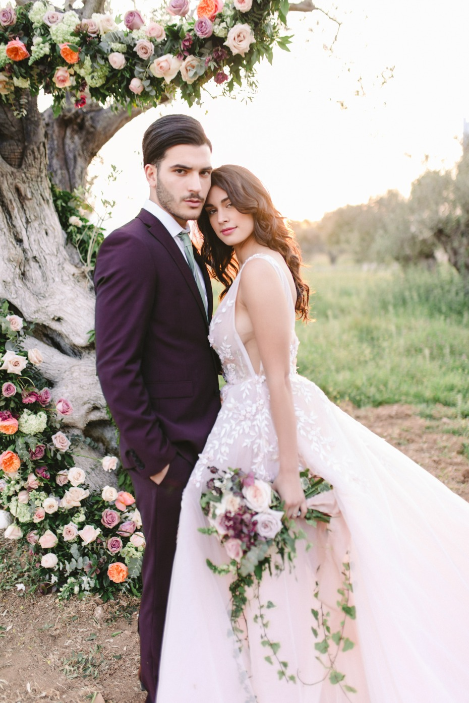 Olive Trees and Garden Roses wedding ideas