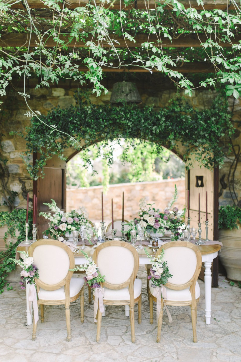 Secret garden winery wedding