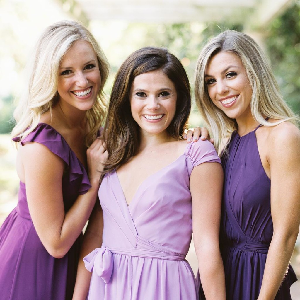 The prettiest maids look positively perfect in purple.💜