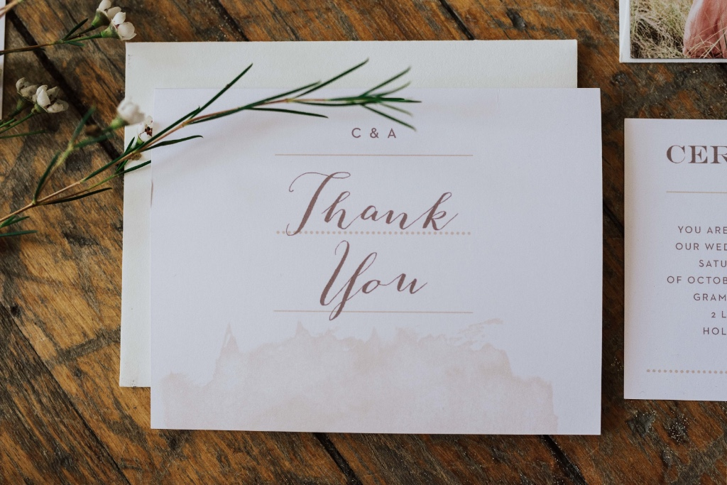 Rustic country thank you notes for the modern bride!
