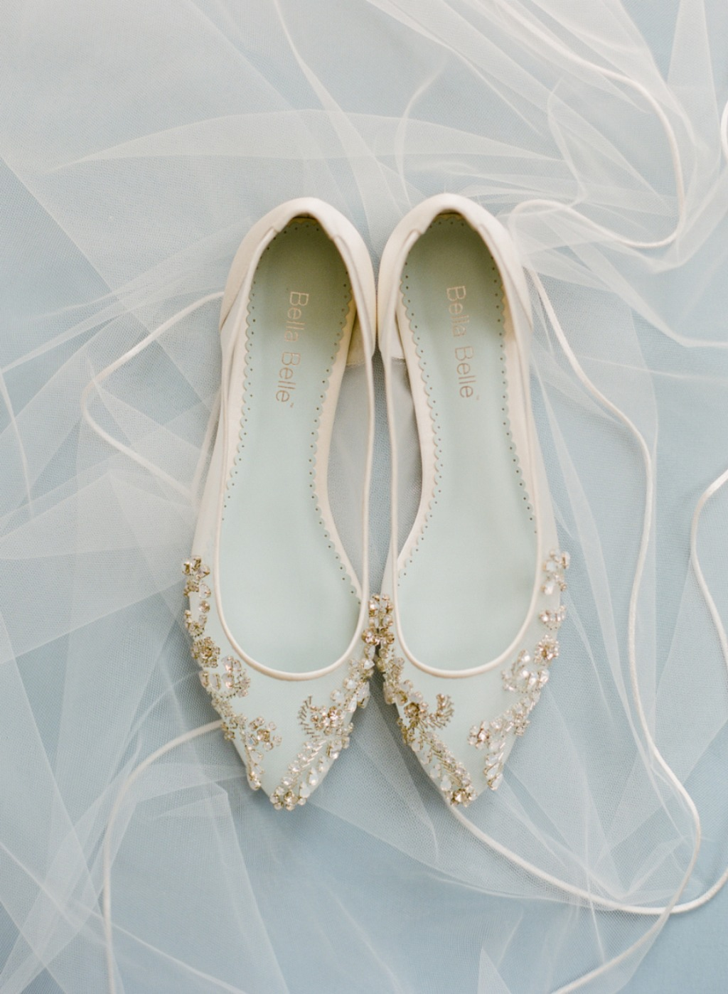 The perfect wedding flat to twinkle the night away on the dance floor. See more at @bellabelleshoes