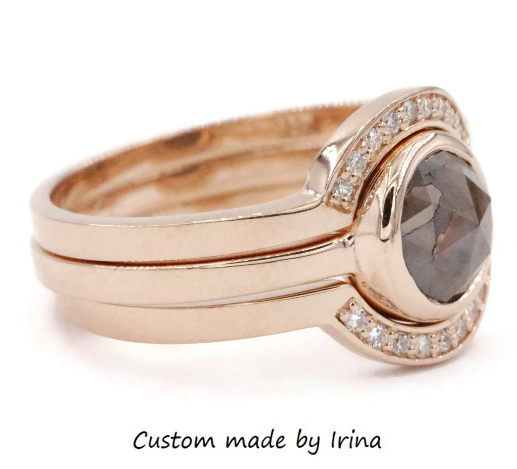 Whether you can describe yourself as a mix of boho and rustic or minimalist and modern this stacking rose cut diamond set is the one