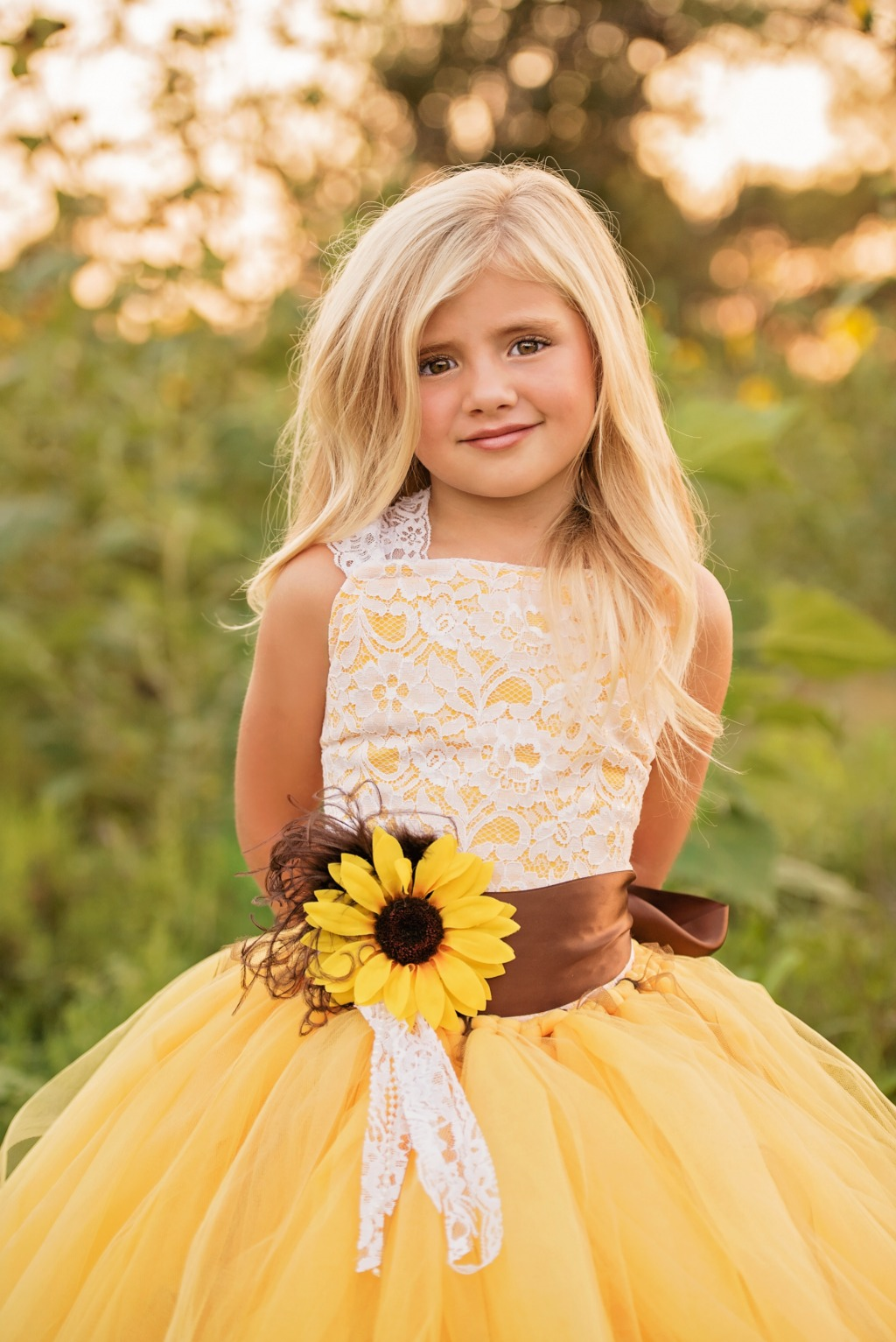 Our most popular dress of the season can be custom made for your little flower girl!
