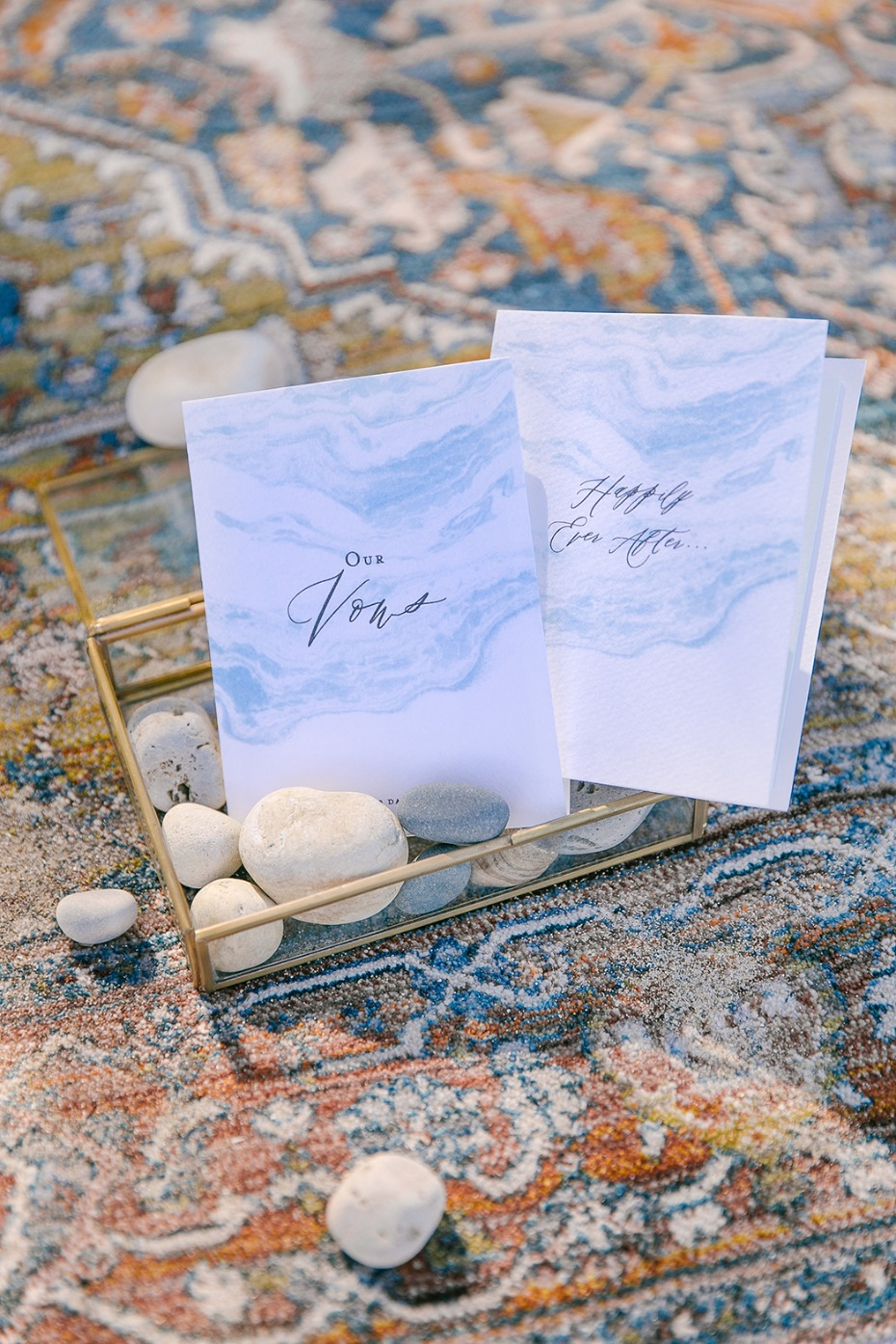 marbled wedding vow books