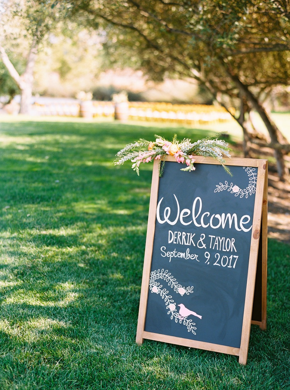 Welcome wedding sign design