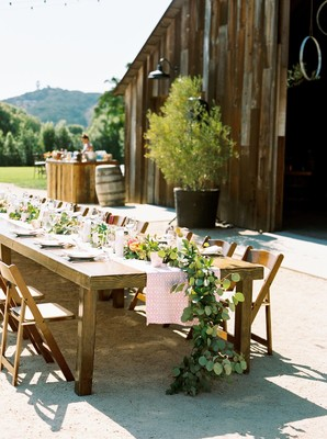 A Rustic Vineyard Barn Wedding in Bold Colors