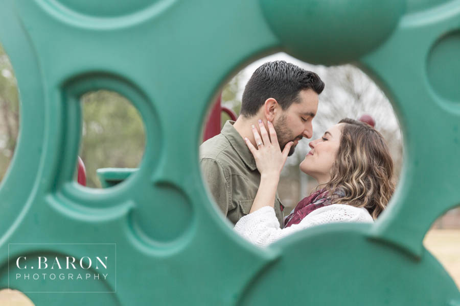 A unique engagement session at the elementary school they met!
