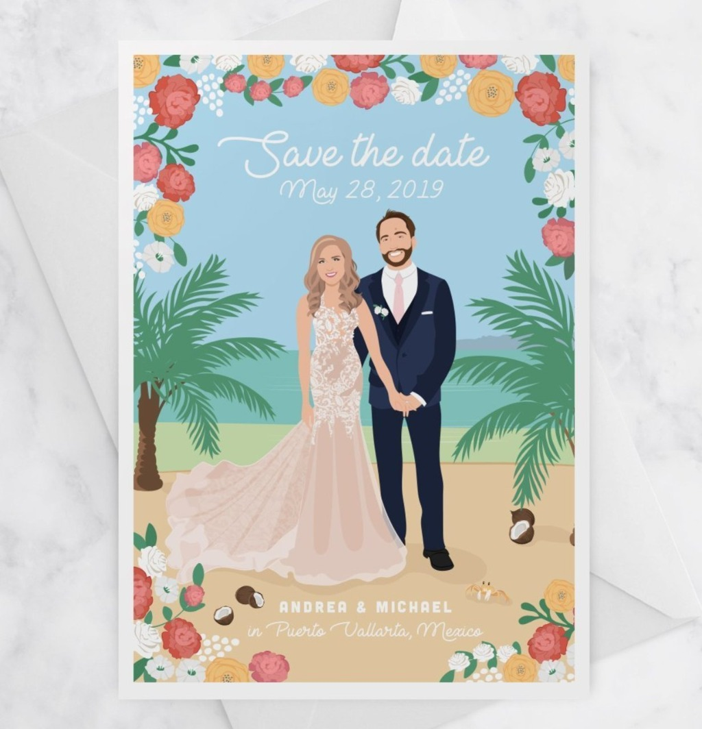 Destination weddings are SO fun, so why not make your Save the Date super fun too?? Let your guests know in style where and when your
