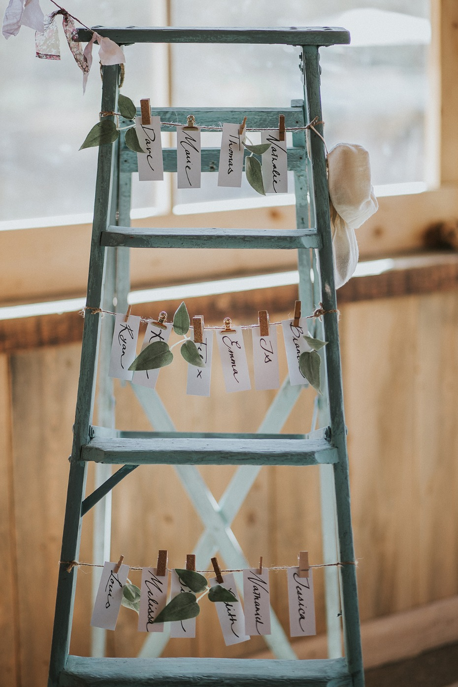 teal ladder escort card