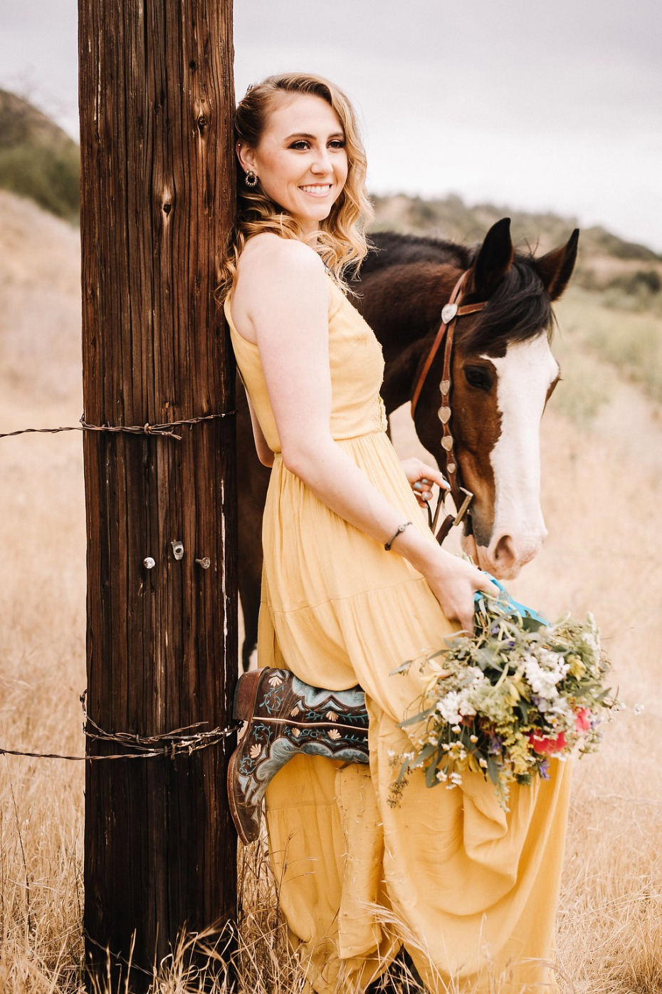 Boho bridesmaid look