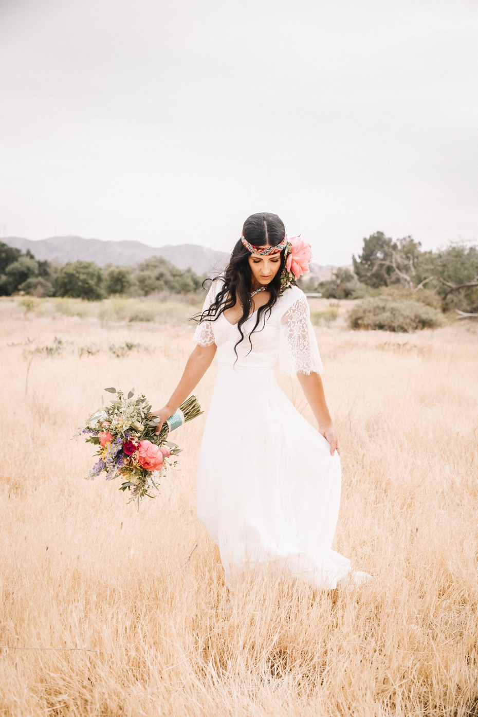 Southwest boho inspired bridal look