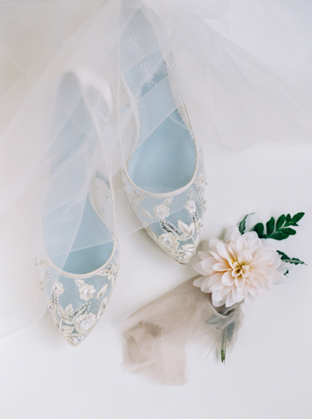 Celebrating classic, elegance and chic all in one bridal ivory heel, the Cora wedding shoe. See more at @bellabelleshoes