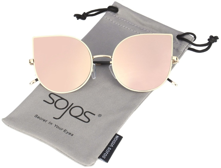kids rose gold cat eye sunglasses