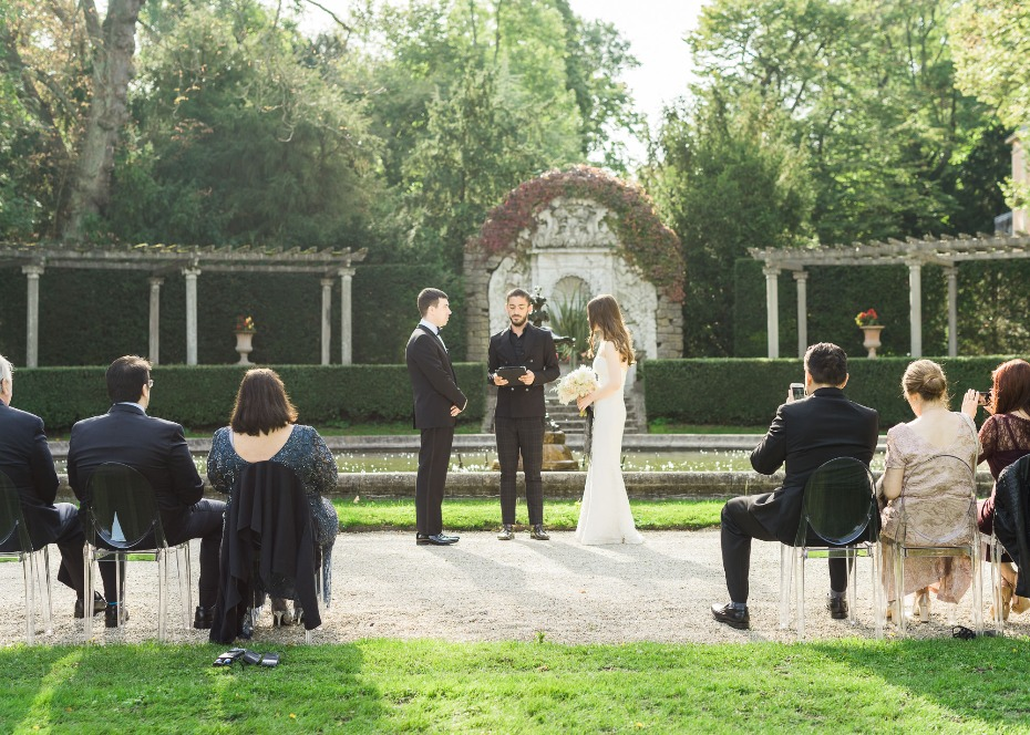 Outdoor ceremony in Paris
