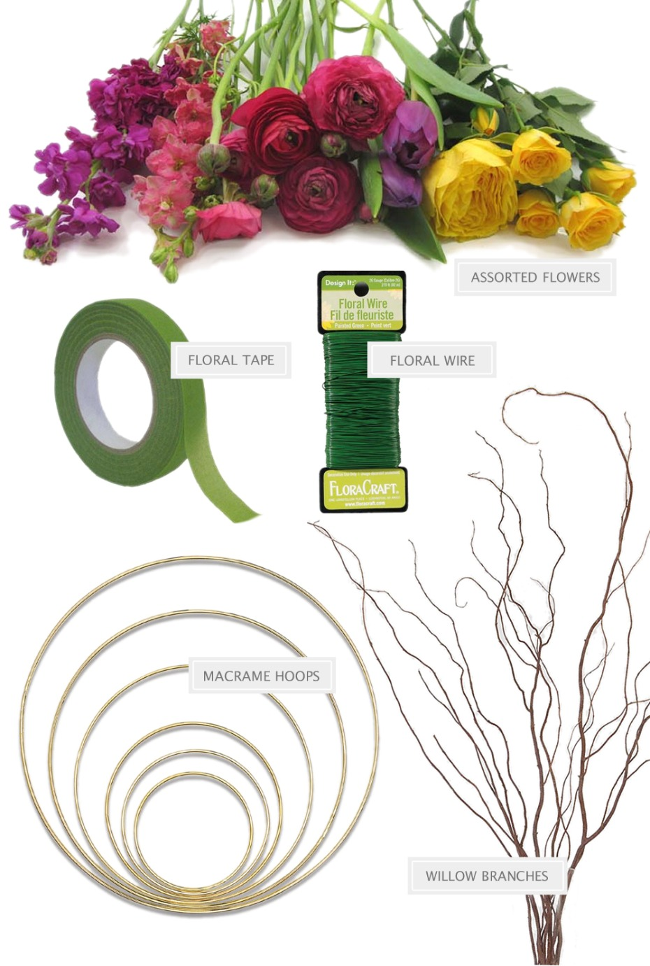 How to build your own hoop bouquet