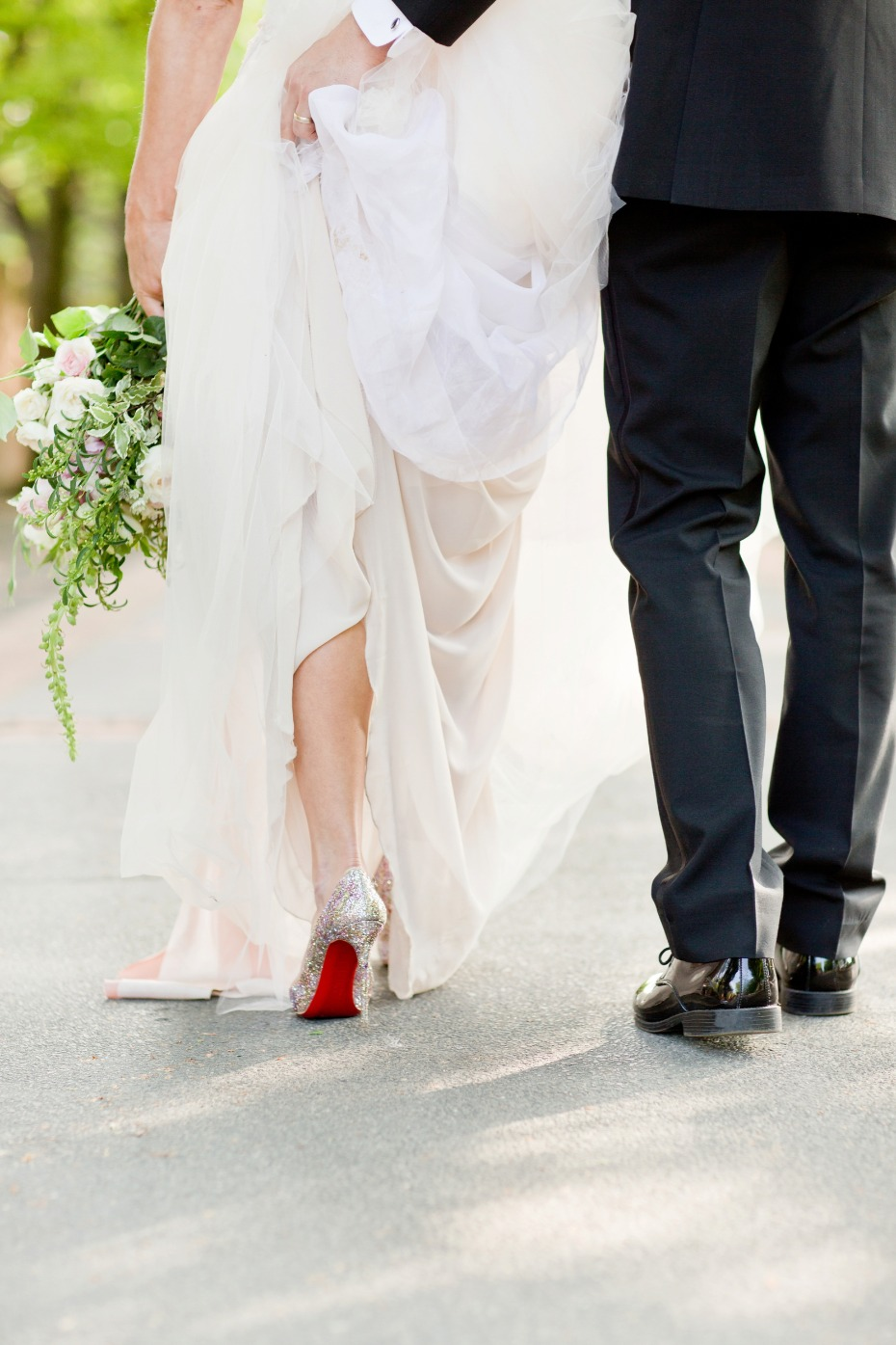 Louboutin heels for the bride