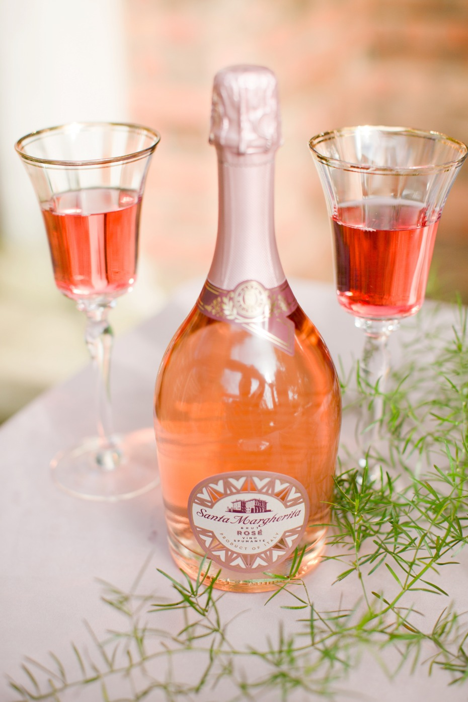 Custom wedding rosé