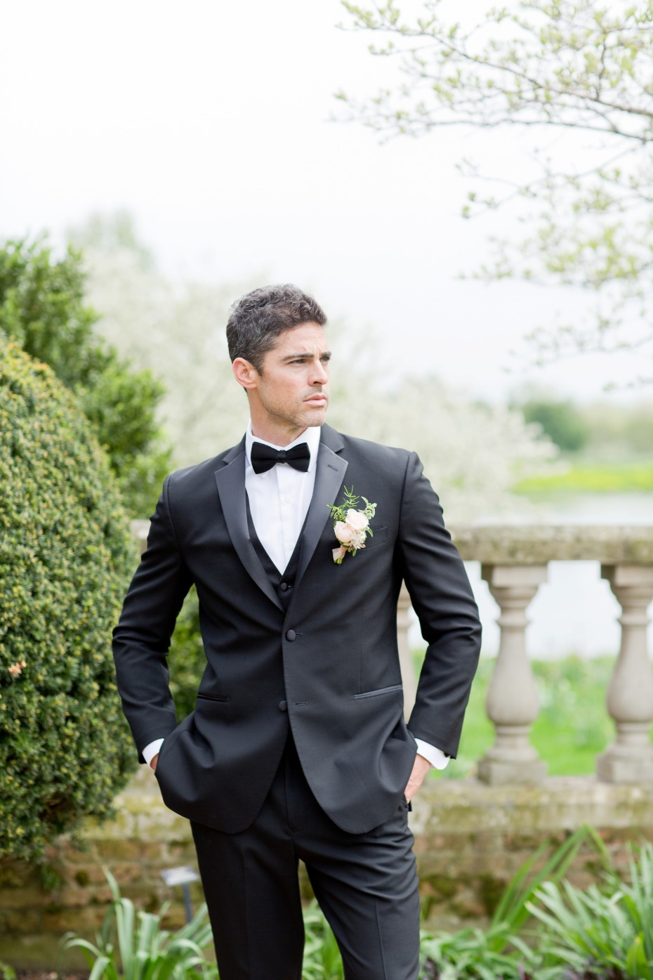 Groom in a classic tux