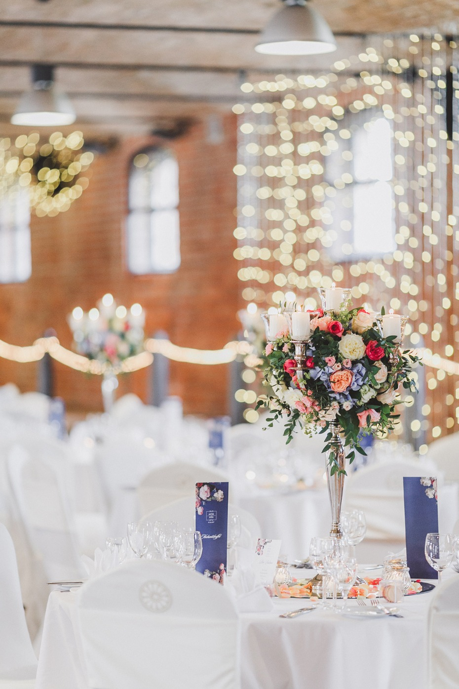 posh wedding reception decor