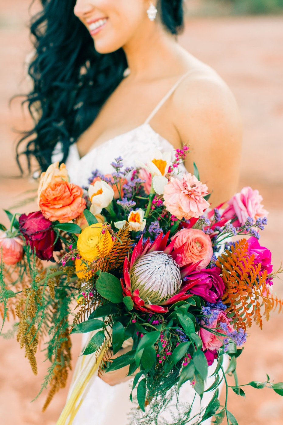 tropical themed wedding bouquet