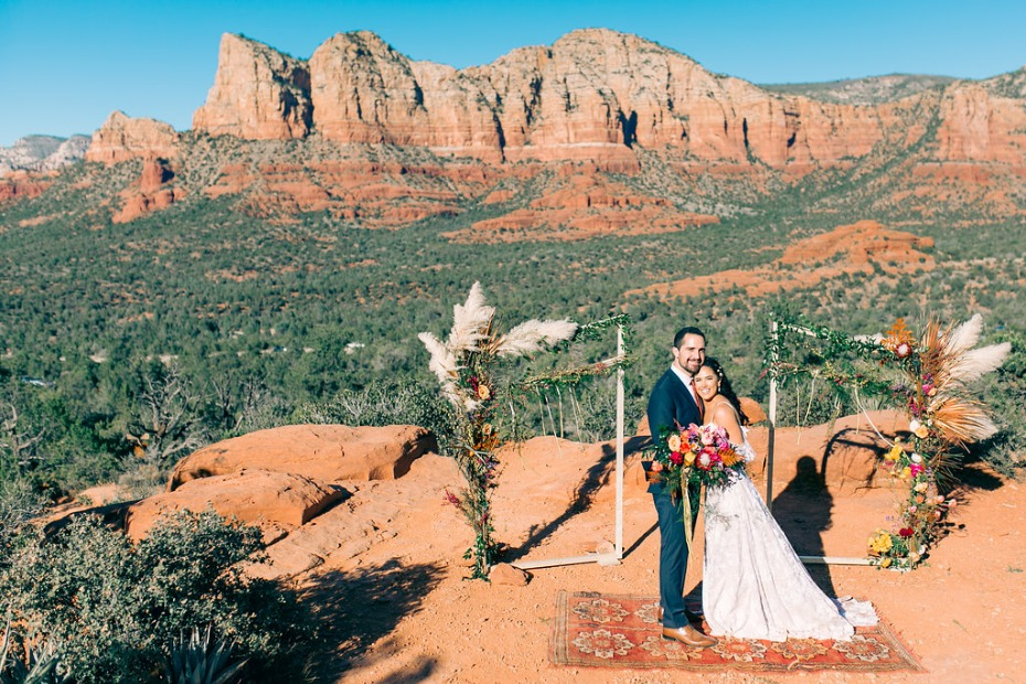intimate wedding in the Arizona