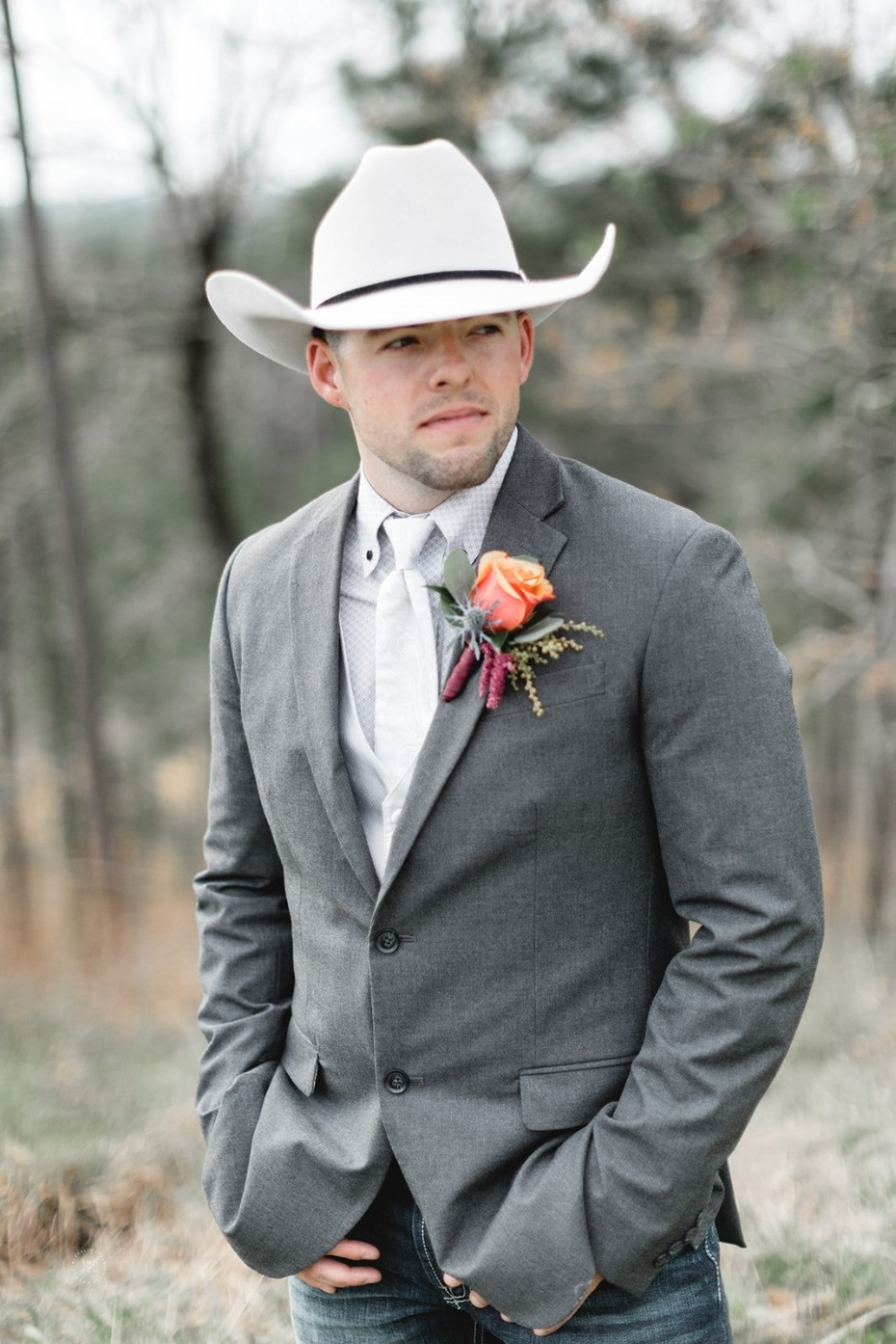 Country grooms look
