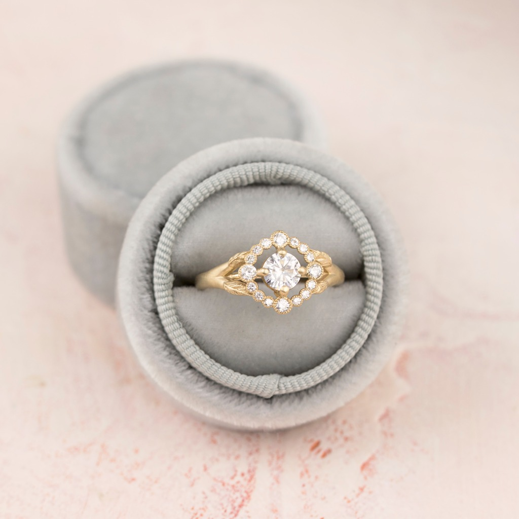 One more reason to love vintage inspired luxe...Our Scarlett Ring in 14k gold and diamonds of course