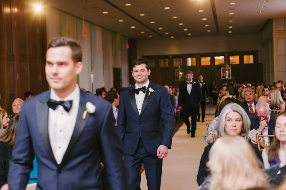 here comes the wedding party