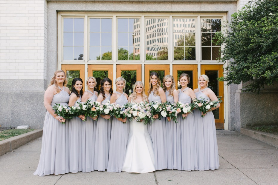 lavender wedding party
