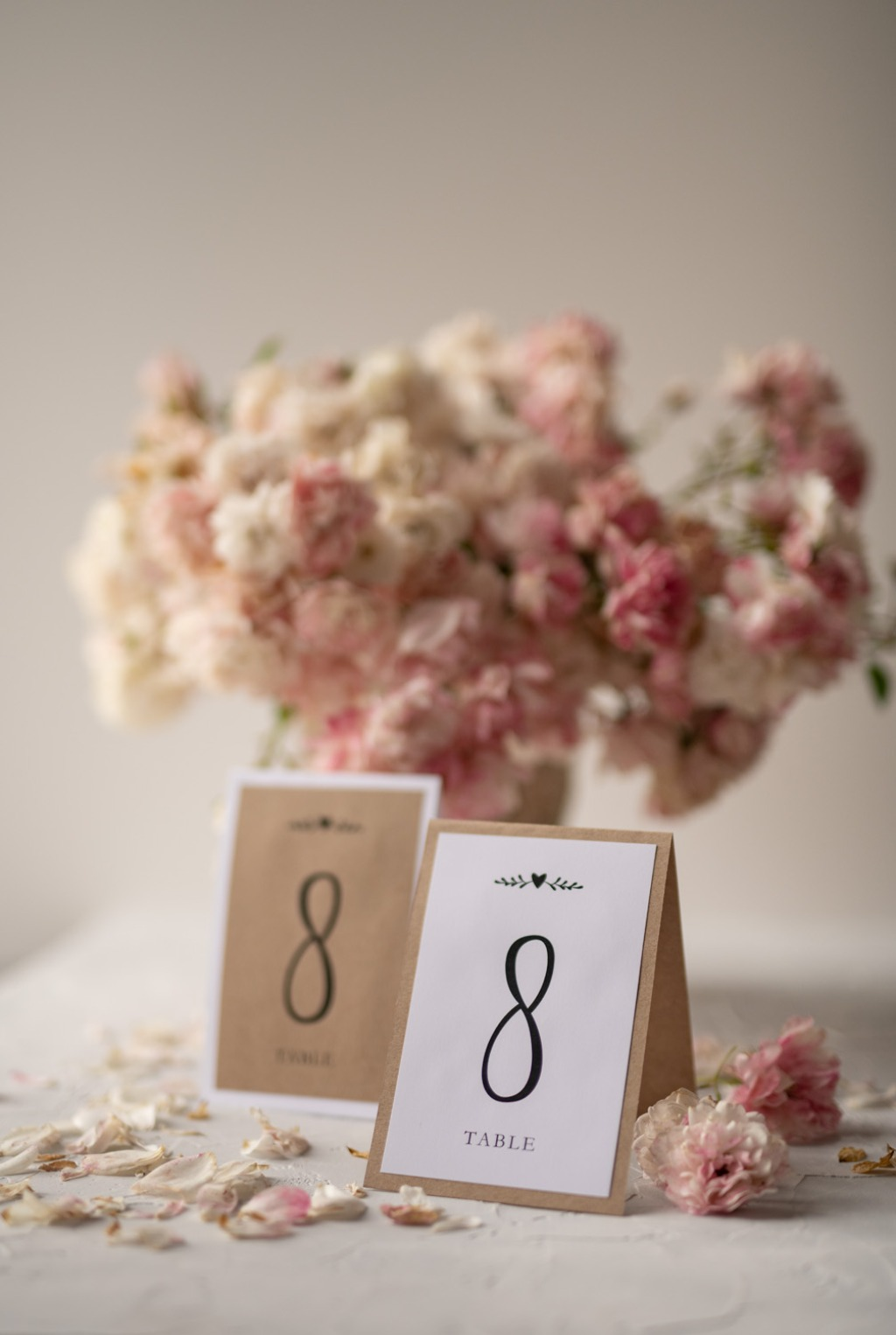Rustic and eco table number