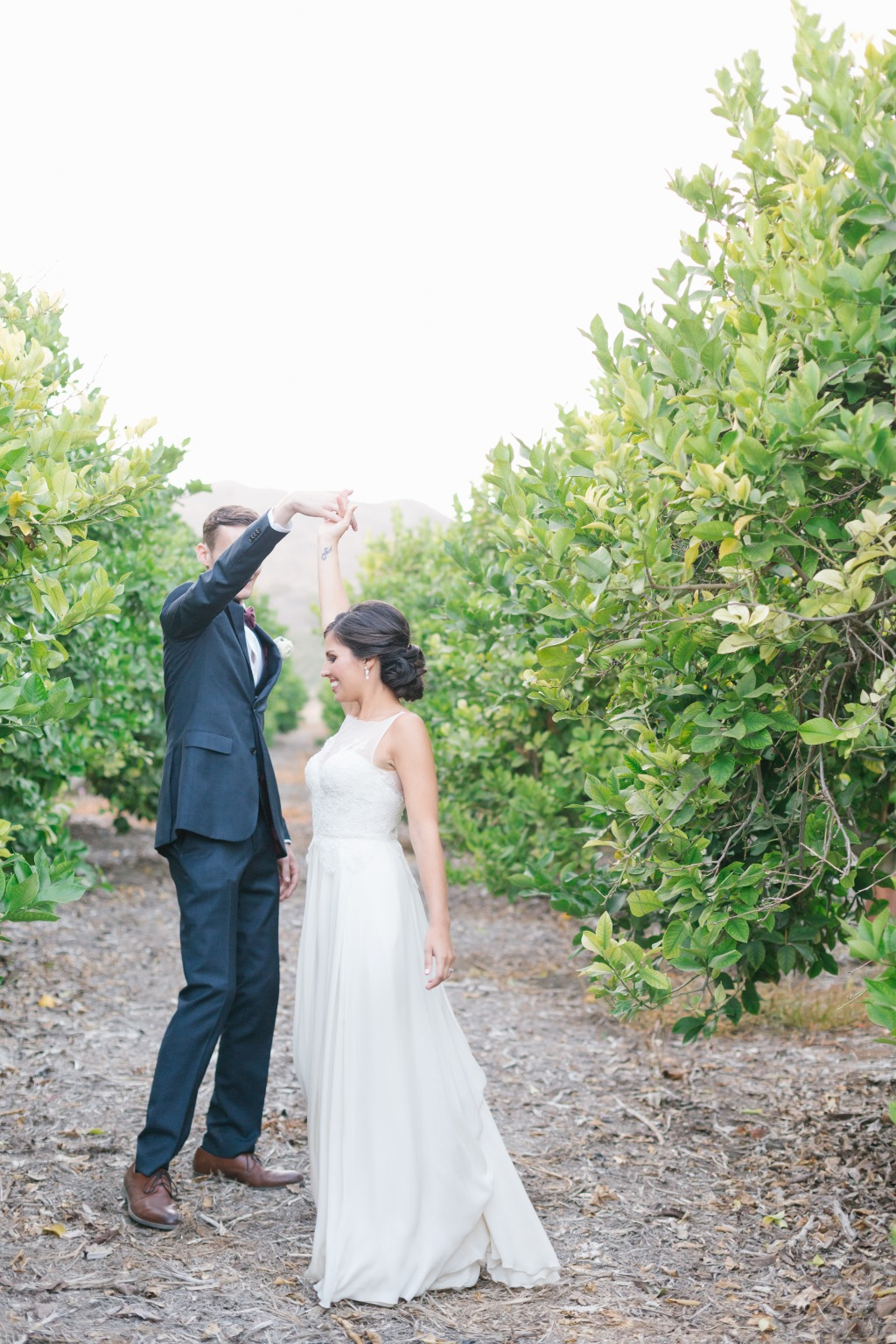 Nothing like a little dancing in the orchard post-ceremony!