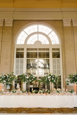 Lavender White And Gold Wedding In A Train Station
