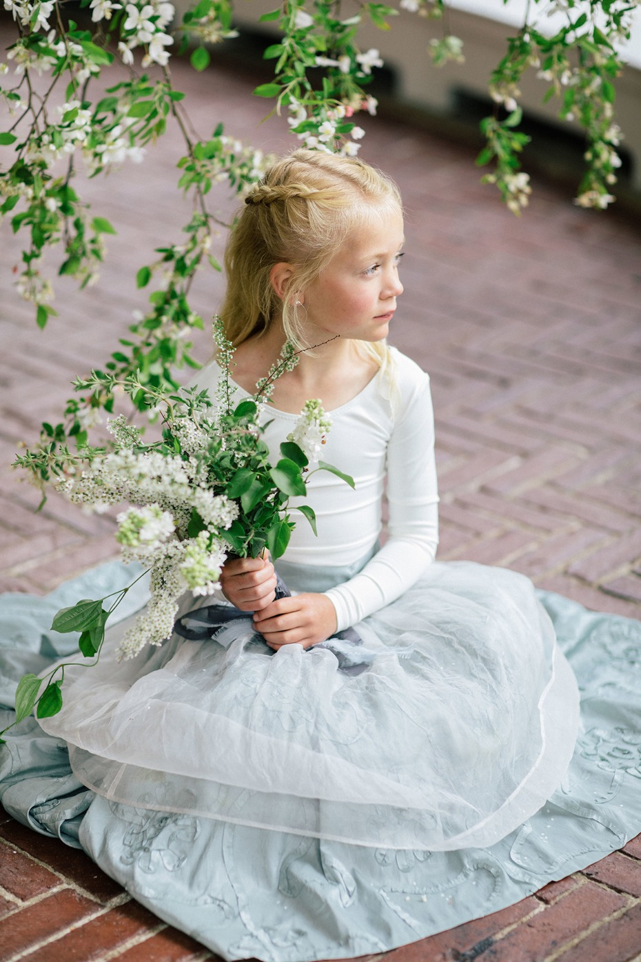 tulle two piece flower girl dress